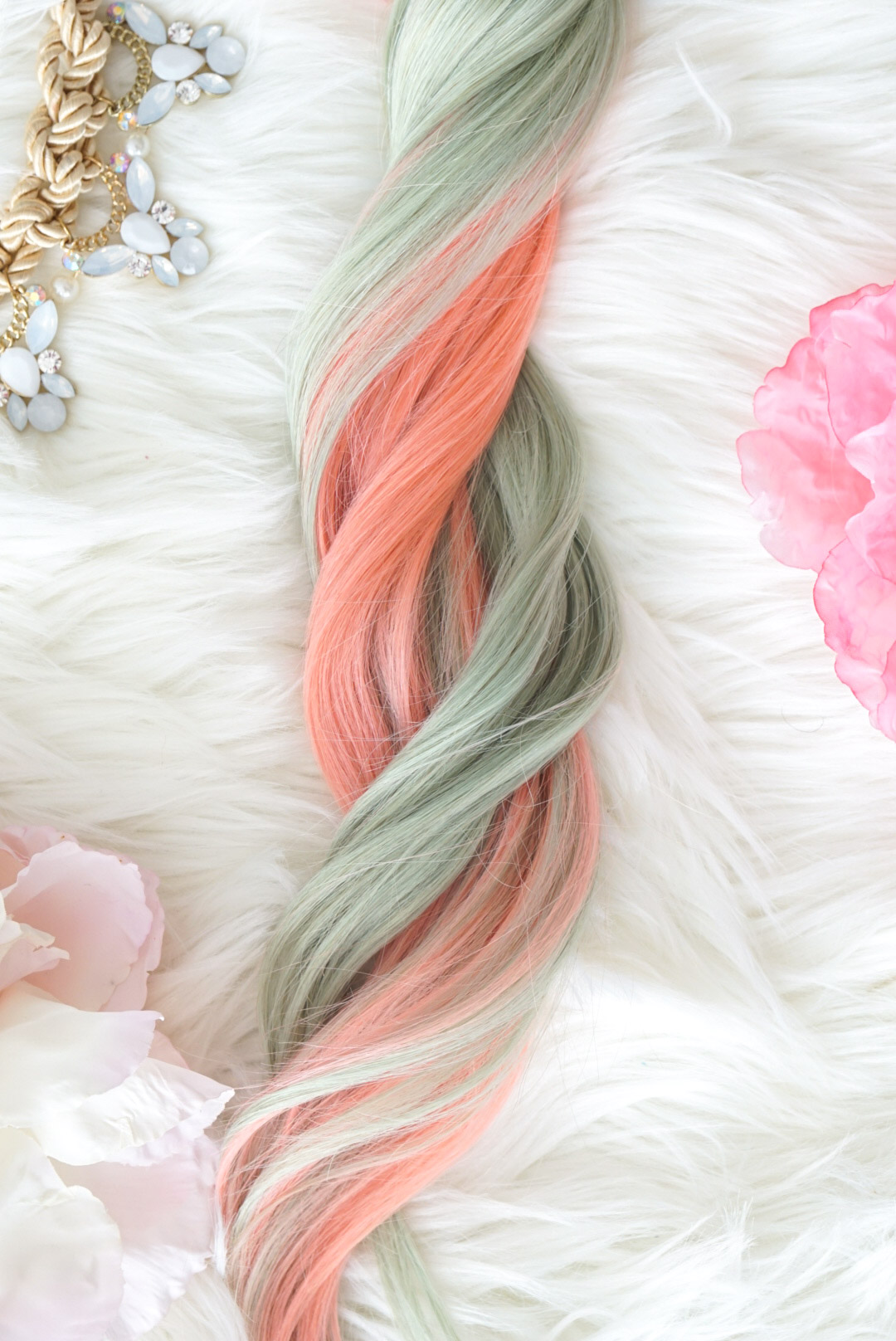 Pastel Hair Extensions Colorful Hair Unicorn Hair Extensions
